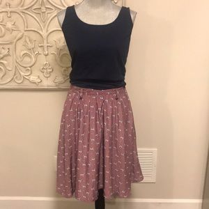 Flowy fun print skirt
